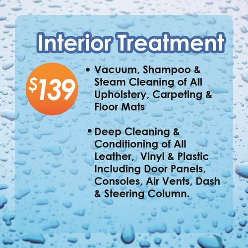 Interior Treatment Starting At $139