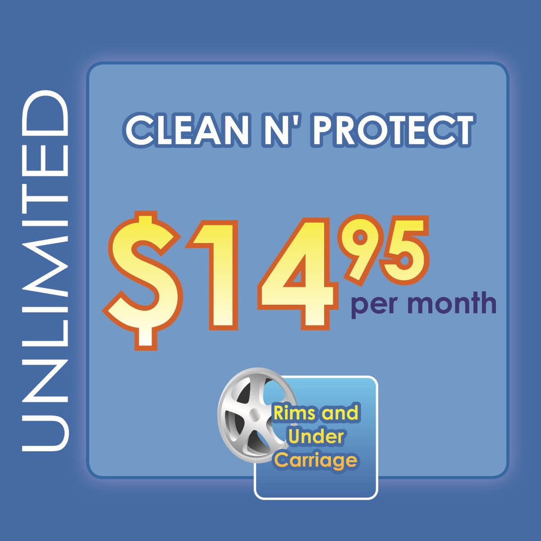 Unlimited Clean N' Protect $14.95 Carwashes Per Month