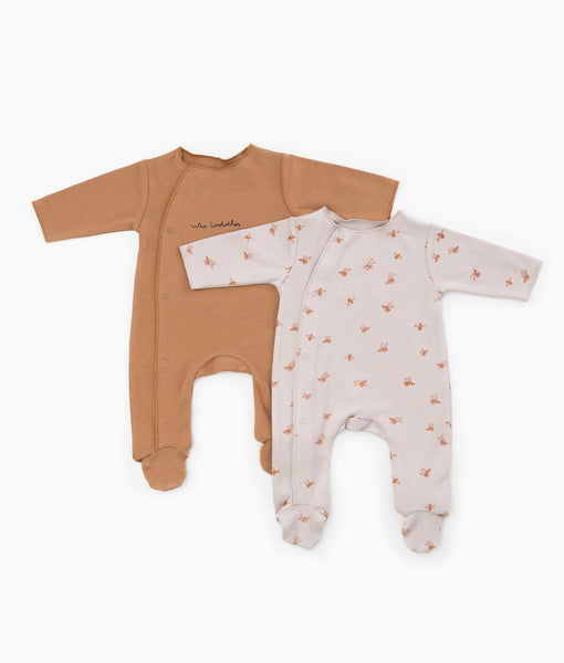 Pack of 2 Printed Onesies