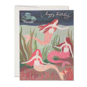 Mermaids Birthday Card