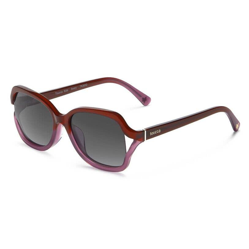 Avery Violet Gradient Butterfly Polarized Girls Sunglasses