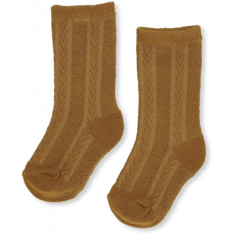 Fuma Sock Pointelle-Dark Honey