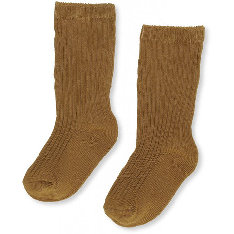 Hisao Rib Sock-Honey