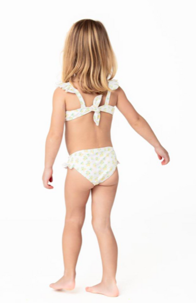 Lemon Drop Ruffle Tie Back Bikini
