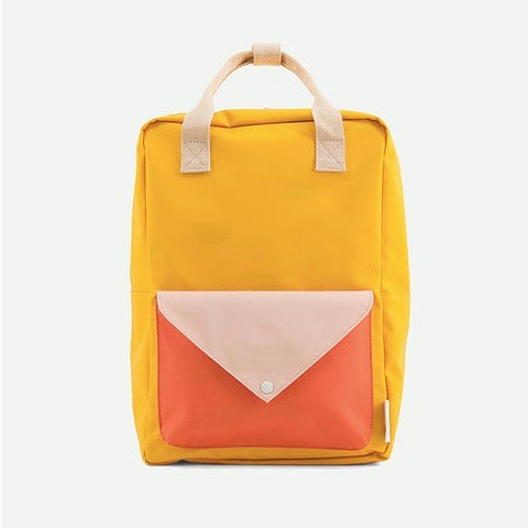 Envelope Backpack, Warm Yellow