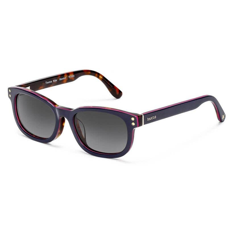 Brandon Navy Blue Classic Polarized Kids Sunglasses
