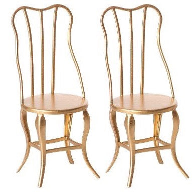 Vintage Gold Chair (Set of 2)