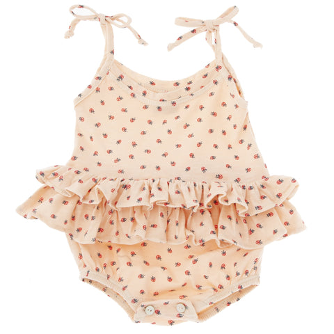Strawberry Ruffle Romper