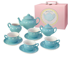 Porcelain Tea Set- Blue
