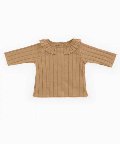 T-Shirt in Organic Cotton with Frill