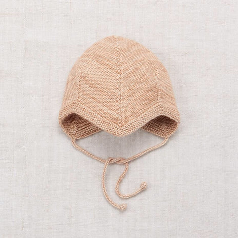 Layette Acorn Bonnet- Shell