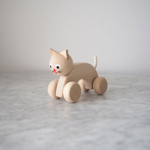 Beatrice Wooden Cat