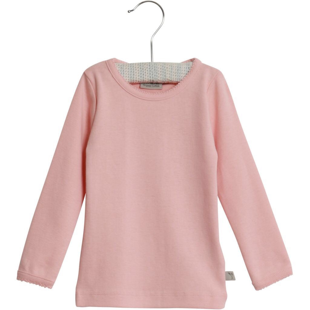 Baby Girl Basic L/S T-shirt-Soft Rose