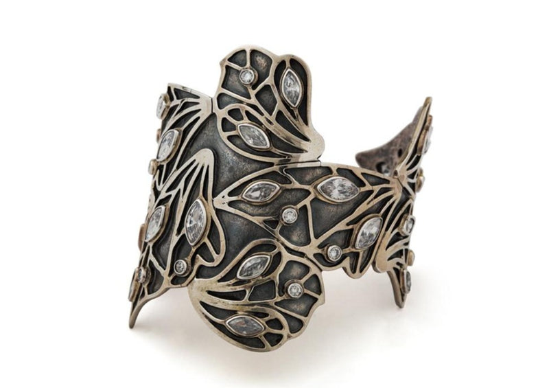 Wings Floating Gemstone Cuff-nagicia-jewelry-handcrafted-in-bali