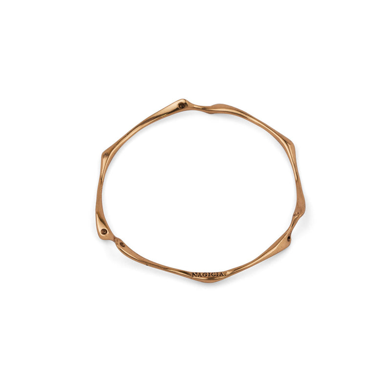 nagicia jewelry root bangle bronze