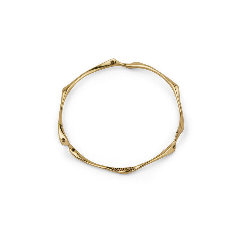 nagicia jewelry root bangle brass