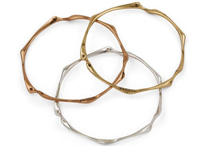 nagicia jewelry root bangle silver brass bronze