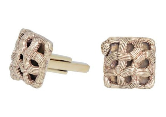 Woven Snake Cufflinks-nagicia-jewelry-handcrafted-in-bali