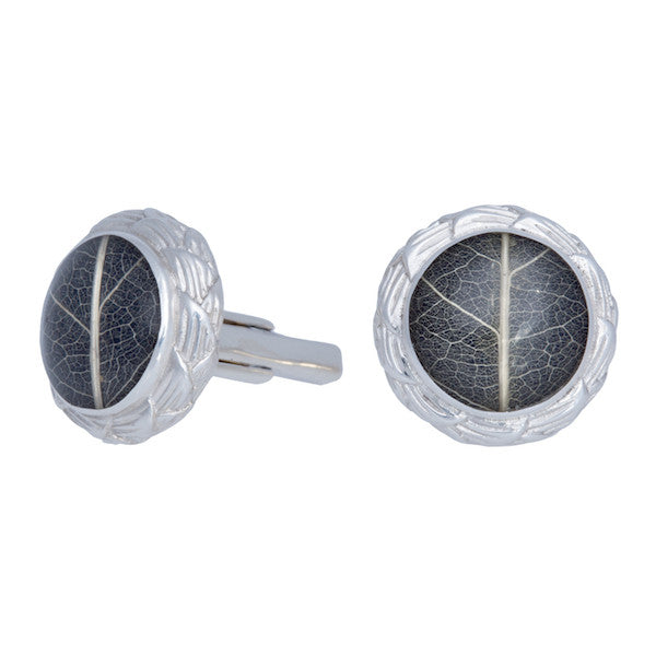 Sirsak Leaf Cufflinks-nagicia-jewelry-handcrafted-in-bali