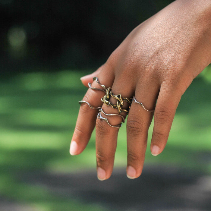 nagicia jewelry silver roots ring