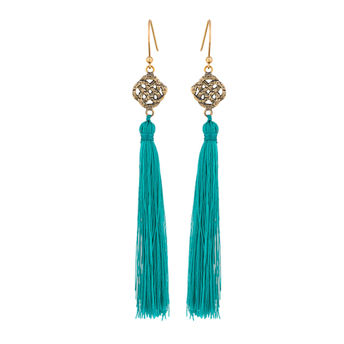 Infinity Tassel Earrings