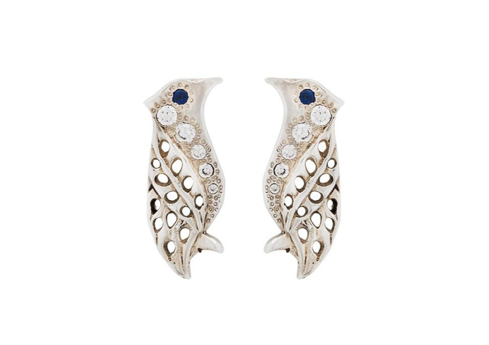 nagicia jewelry silver ear studs bali starling pave