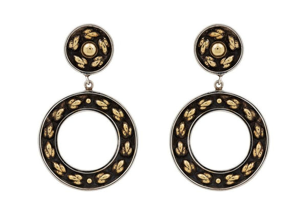 Lotus Hearts Wreath Earrings - nagicia