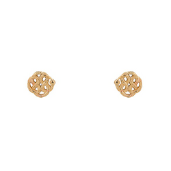 nagicia jewelry infinity knot gold ear studs