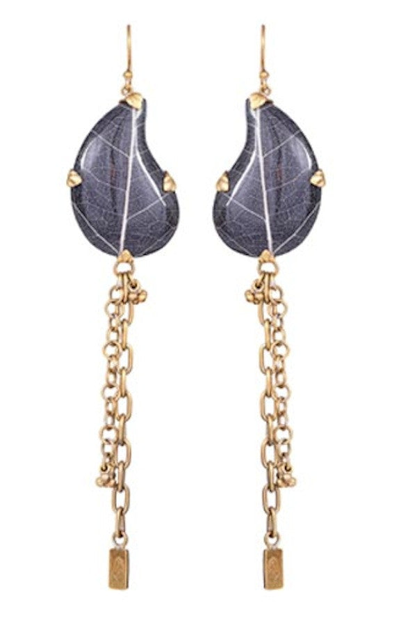 Paisley Chain Earrings - nagicia