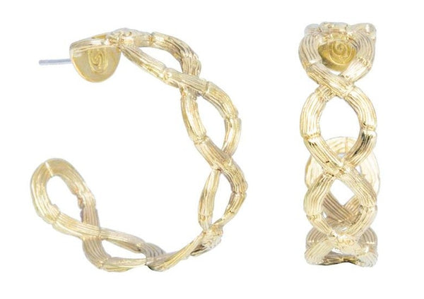 Infinity Snake Twist Earhoops-nagicia-jewelry-handcrafted-in-bali