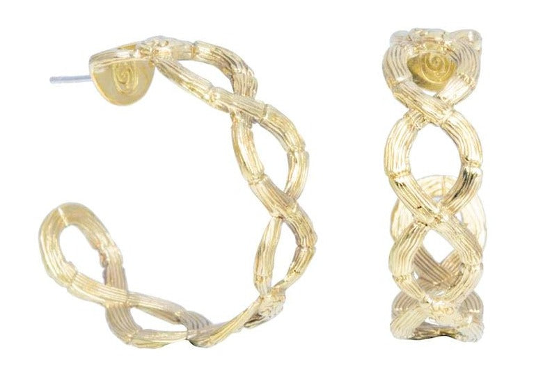Infinity Twist Earhoops - nagicia