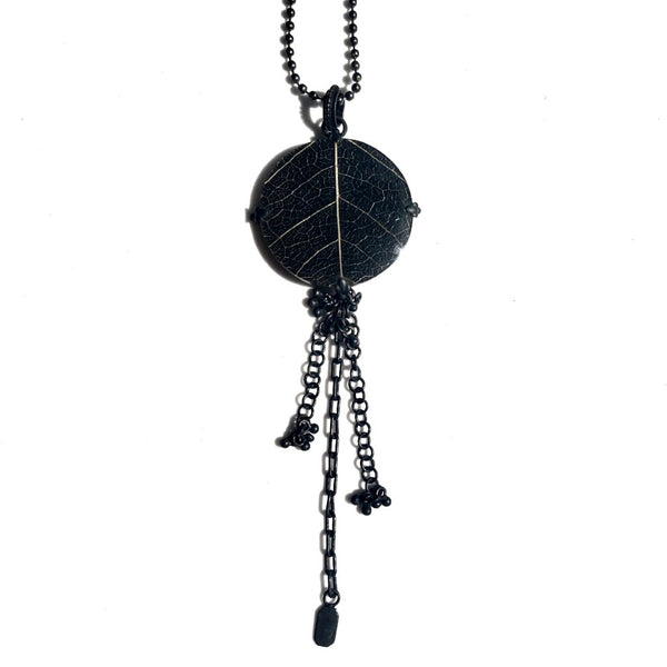 Round Sirsak Leaf Pendant-nagicia-jewelry-handcrafted-in-bali