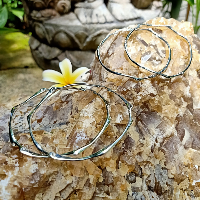 Bamboo Ear Hoops