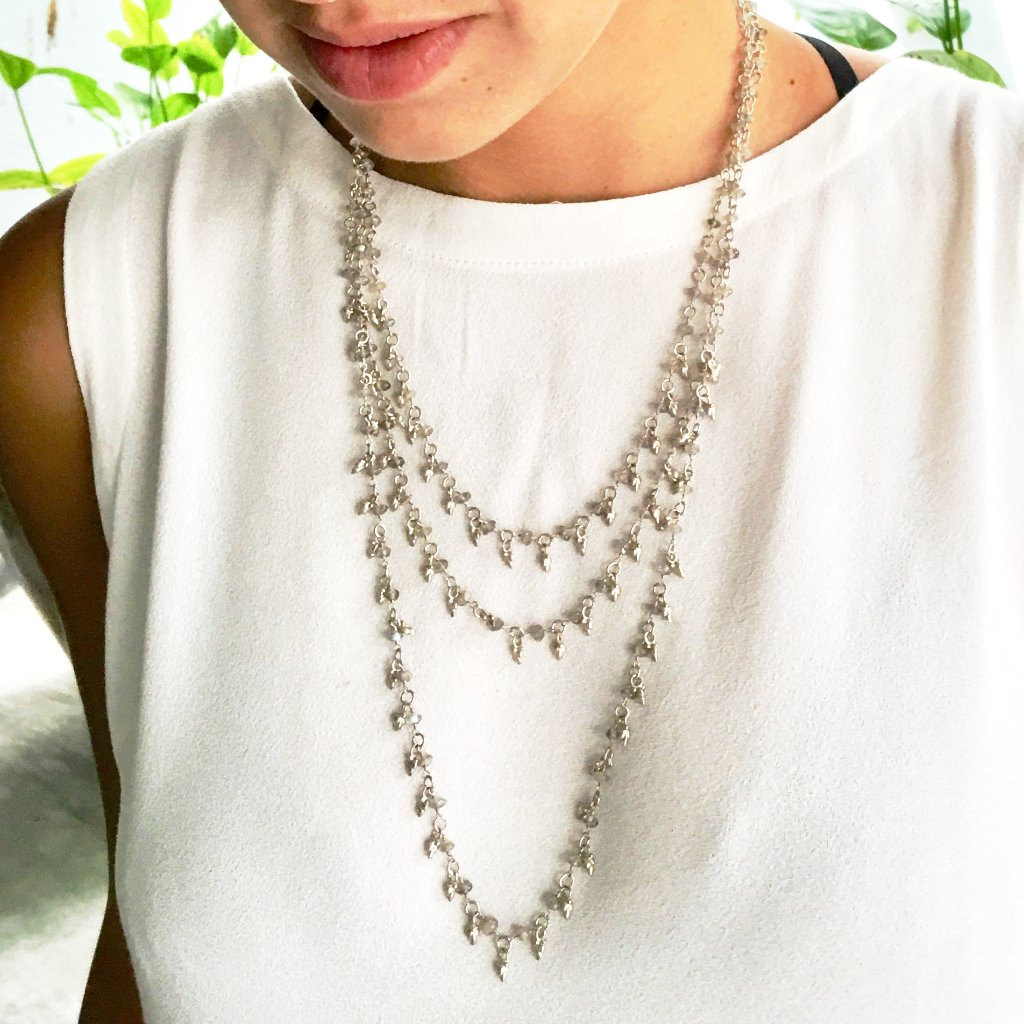 Lotus Bud Layered Necklace