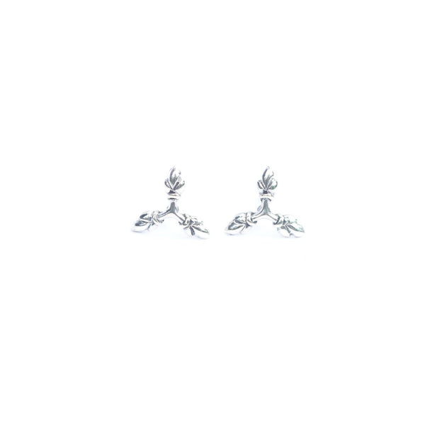 Lotus Heart Trio Ear-studs - nagicia