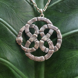 Infinity Statement Knot Pendant-nagicia-jewelry-handcrafted-in-bali
