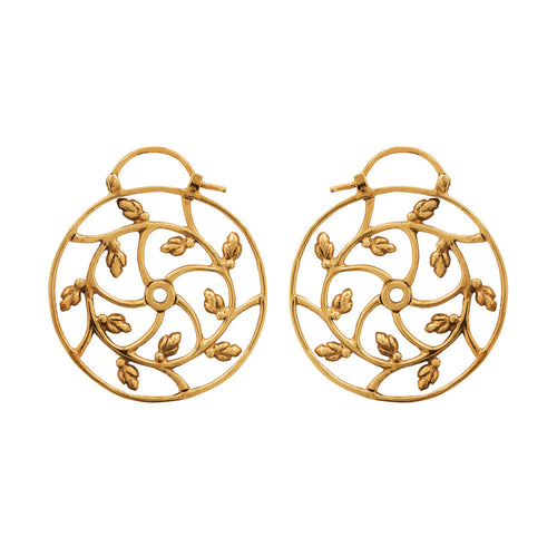 Lotus Buds Spiral Earrings