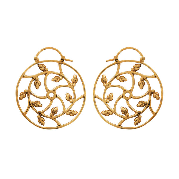 Lotus Spiral Earrings - nagicia