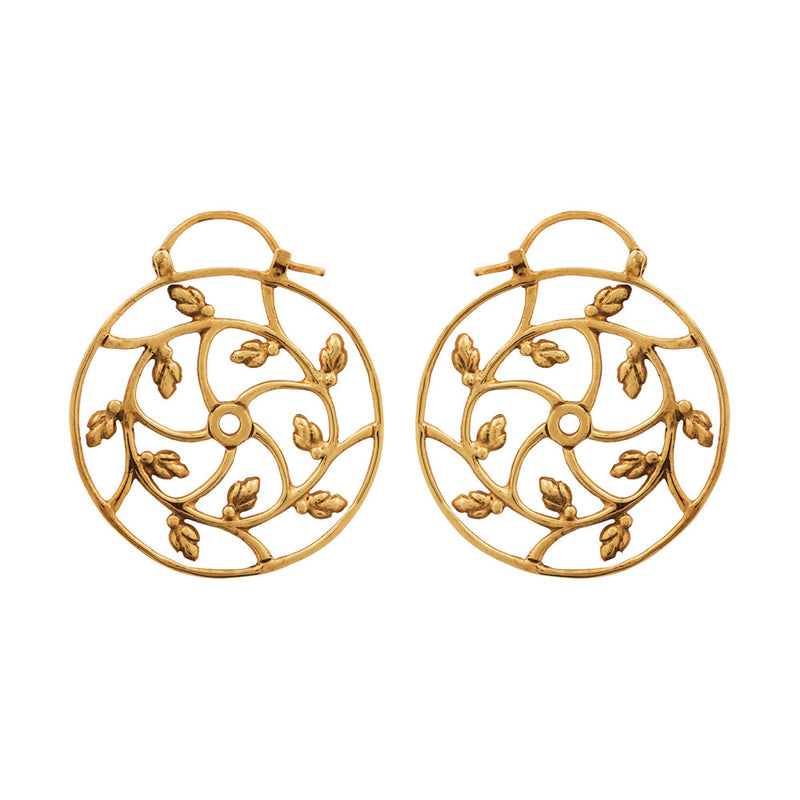Lotus Hearts Spiral Earrings-nagicia-jewelry-handcrafted-in-bali