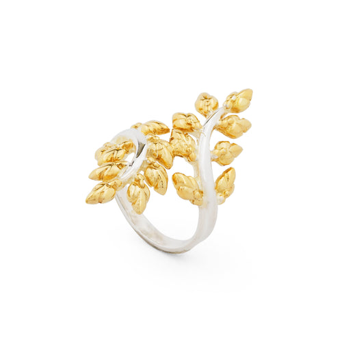 Lotus Buds Vine Ring