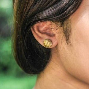 DOMED BAMBU EAR STUD
