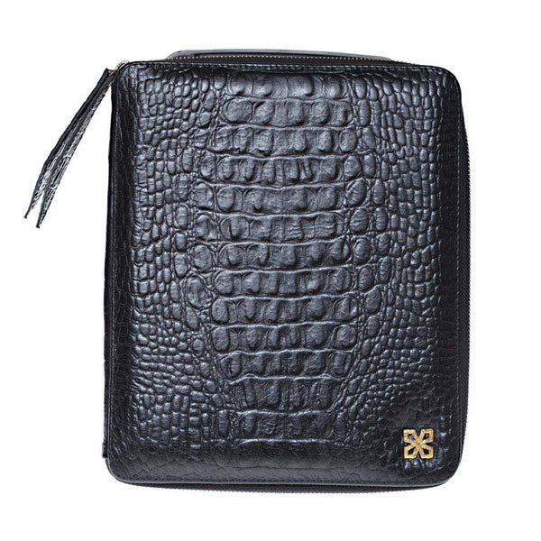 Maltese iPad Case Stamped Croco-nagicia-jewelry-handcrafted-in-bali