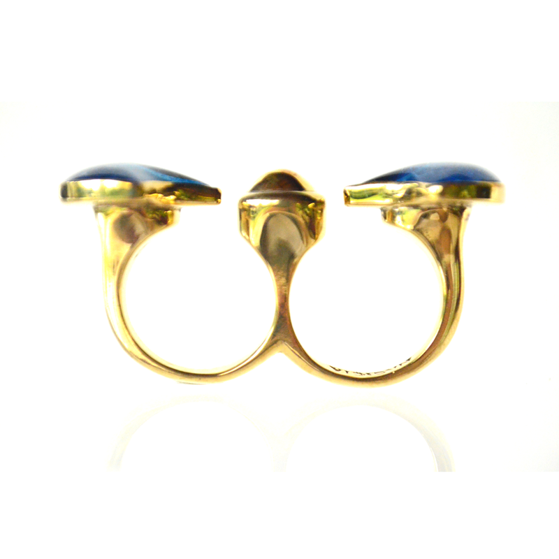Twin Fan Gap Ring-nagicia-jewelry-handcrafted-in-bali