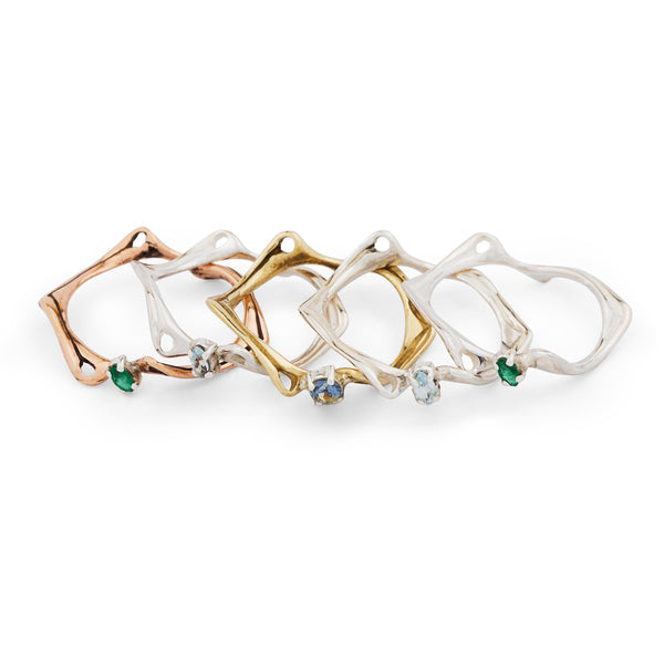 nagicia jewelry slim root stack rings with gemstones