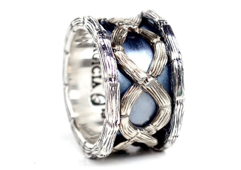 Entwined Snake Spin Ring - nagicia