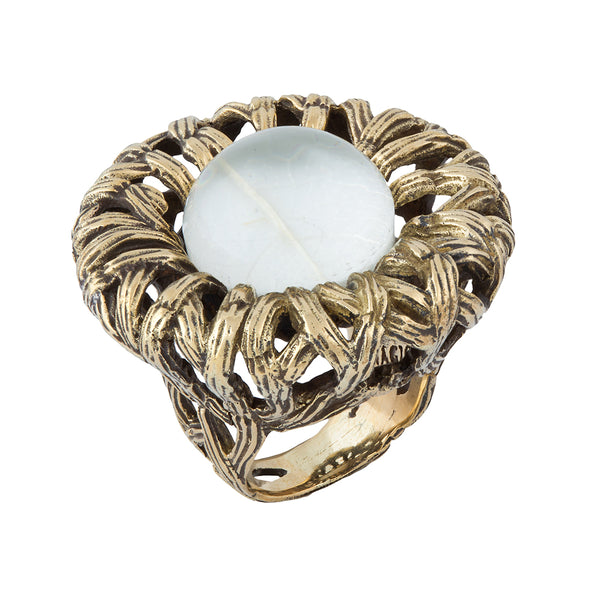 Bamboo Framed Donut Ring