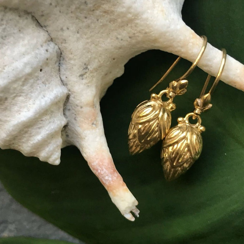 Lotus Heart Earrings-nagicia-jewelry-handcrafted-in-bali