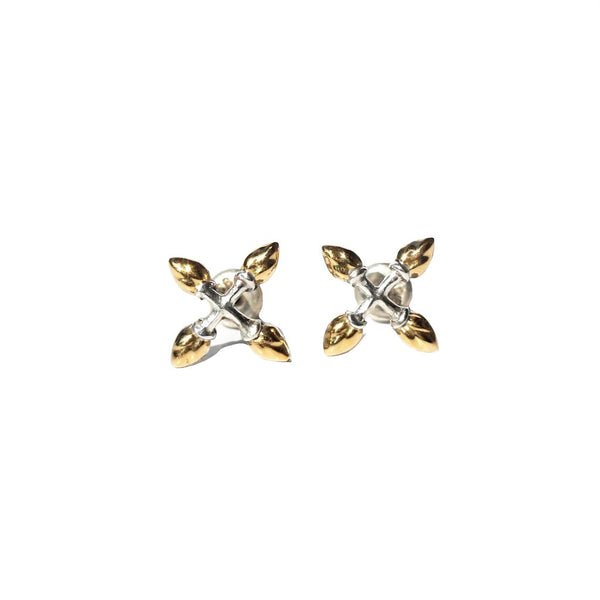 Lotus Buds Cross Earstuds - nagicia