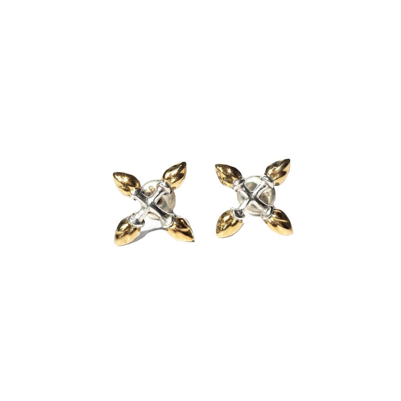 Lotus Hearts Cross Ear-studs-nagicia-jewelry-handcrafted-in-bali