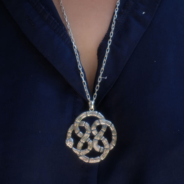 Infinity Statement Knot Pendant